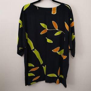 Coral Island Traders Bamboo Leaf Dye Design Blouse